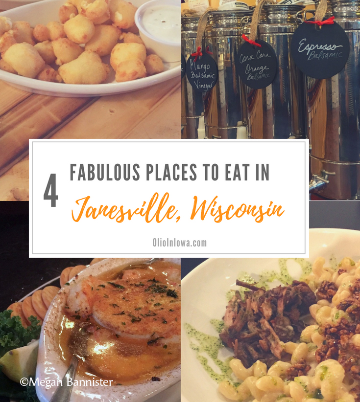 Four Fabulous Places to Eat in the Janesville Area